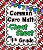 4th Grade Common Core Math Cheat Sheet
