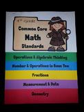 4th Grade Common Core Math Standards Flip Book