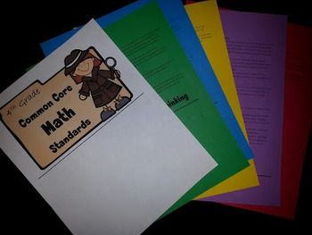 4th Grade Common Core Math Standards Flip Book