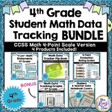 4th Grade Math Student Data Tracking BUNDLE 4 pt scale