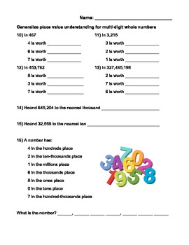 4th Grade Common Core Math Test