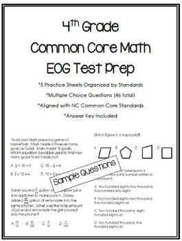 4th Grade Common Core Math Test Prep
