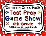 4th Grade Common Core Math Test Prep Game Show Bundle All Domains and Standards