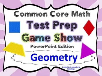 4th Grade Common Core Math Test Prep Game Show (G) PowerPoint
