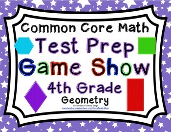 4th Grade Common Core Math Test Prep Game Show - Geometry