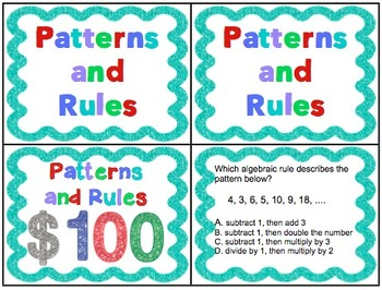 4th Grade Common Core Math Test Prep Game Show Operations and Algebraic Thinking