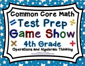 4th Grade Common Core Math Test Prep Game Show Operations