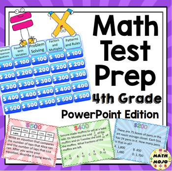 4th Grade Common Core Math Test Prep Game Shows - PowerPoint Bundle