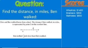 4th Grade Common Core Math-Test Prep Jeopardy (CAASPP, Smarter Balanced)