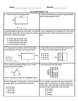 4th Grade Common Core Math Tests Bundle