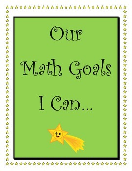 4th Grade Common Core Unit by Unit Math  Student Centered Goals and Checklists