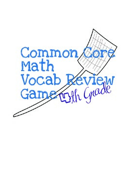 4th Grade Common Core Math Vocabulary Review Game