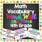 Math Word Wall - 4th Grade