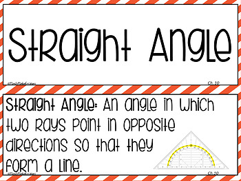 Go Math Vocabulary 4th Grade Chapters 7-13 Signs
