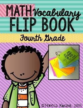 4th Grade Common Core Math Vocabulary Flip Book