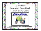 4th Grade Common Core Math Vocabulary Game