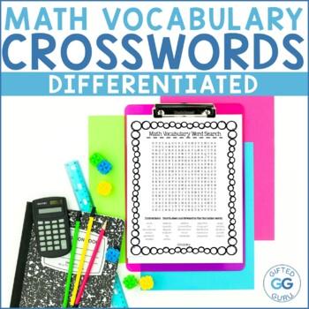 4th Grade Common Core Math Vocabulary Wordsearch