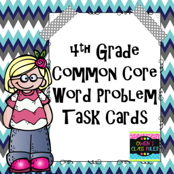 4th Grade Common Core Math Word Problems