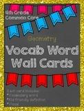 4th Grade Common Core Math Word Wall: Geometry