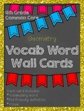 4th Grade Common Core Math Word Wall: Geometry
