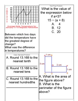 4th Grade Common Core Math Year-Long Spiral Review