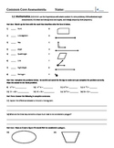 4th Grade Common Core Math and ELA Assessments - 1st Nine Weeks