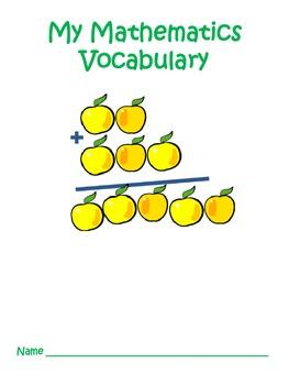4th Grade Common Core Mathematics Vocabulary Journal