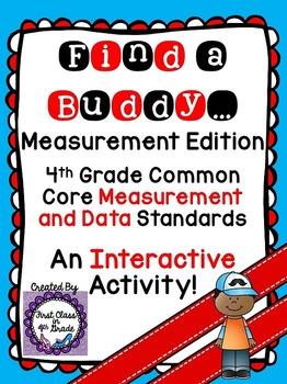 4th grade common core measurement conversions find a buddy tpt. Black Bedroom Furniture Sets. Home Design Ideas