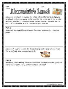 4.OA.3 Math Assessment Tasks