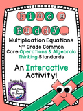 4th Grade Common Core Multiplication Equations (Find a Buddy)