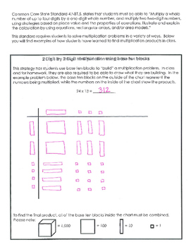 4th Grade Common Core Multiplication Parent Letter