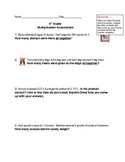 4th Grade Common Core Multiplication Story Problem Assessment