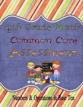 4th Grade Common Core NBT Assessment
