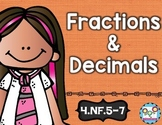 Fractions and Decimals Math Tasks and Exit Tickets