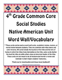 4th Grade Common Core Native Americans Word Wall