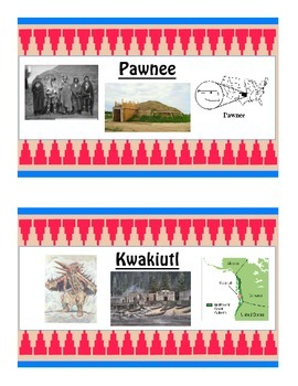 4th Grade Common Core Native Americans Word Wall