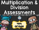 Multiplication and Division Tests 4th Grade