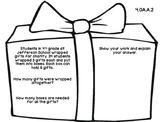 4th Grade Common Core Open Ended Christmas Math Assessment Task (Gift)