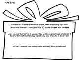 4th Grade Common Core Open Ended Christmas Math Assessment Task (Gift/Carols)