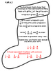 4th Grade Common Core Open Ended Christmas Math Assessment Task (Stocking)