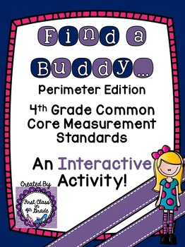4th Grade Common Core Perimeter (Find a Buddy)
