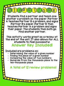 4th Grade Common Core Place Value (Find a Buddy)