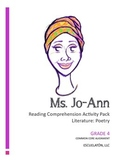 4th Grade Common Core Poetry Lesson: Reading Comprehension Activity Pack