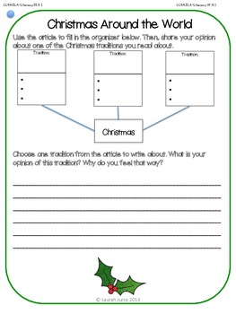 Non-Fiction Common Core Close Reading and Writing: December {Winter Holidays}