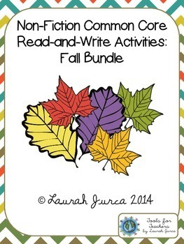 Non-Fiction Common Core Close Reading and Writing: Fall Bundle