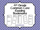4th Grade Common Core Reading Bookmarks