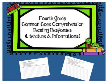 4th Grade Common Core Reading Comprehension Responses