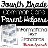 4th Grade Common Core Reading Informational Text Parent He