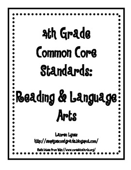 4th Grade Common Core: Reading & Language Arts