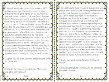 4th Grade Common Core Reading Review (Bundle)